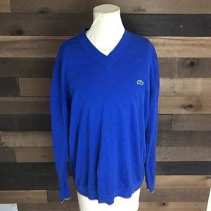 Lacoste live blue pullover men's sweater size 7 Xl